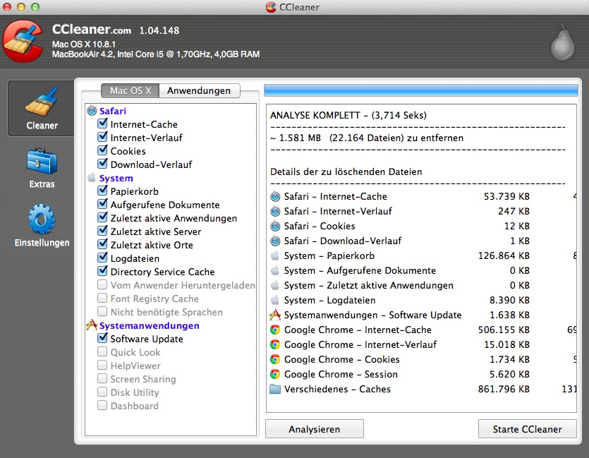 CCleaner für Mac