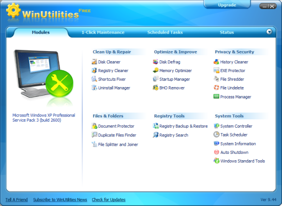 WinUtilities (Screenshot: ZDNet.de)