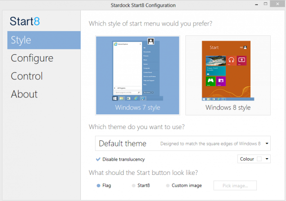 Start8 bringt das von Windows Vista und 7 gewohnte Startmenü unter Windows 8 zurück