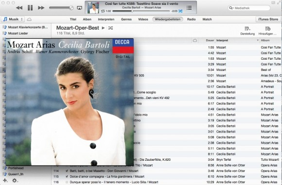 iTunes 11: Viele werden Cover Flow vermissen