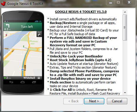Nexus 4 Toolkit Download | ZDNet de