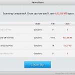 PhoneClean findet über 600 MByte nutzlose Daten
