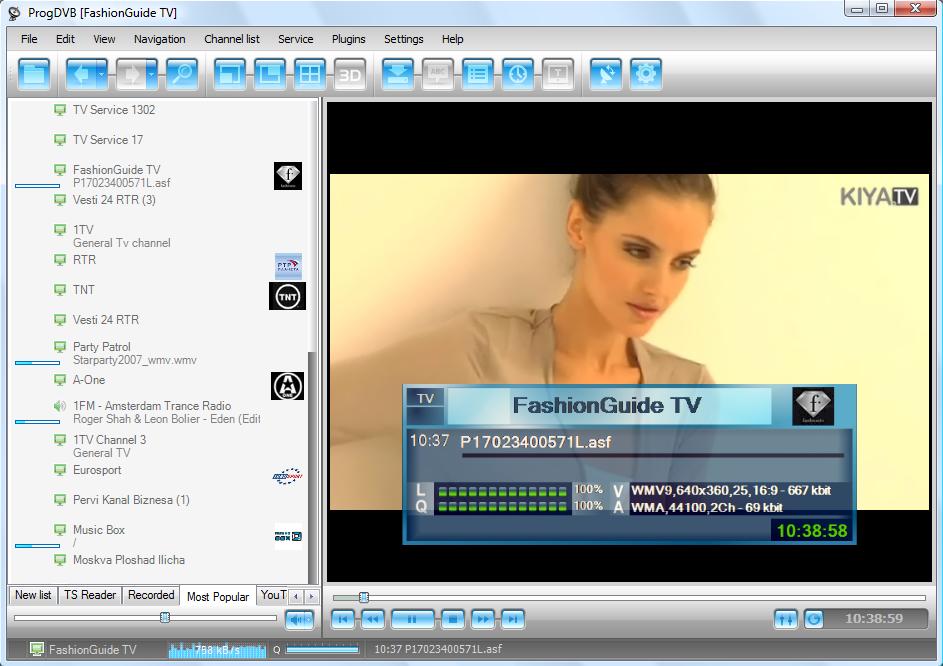 digitale TV- und Radio-Programme über eine DVB-Karte