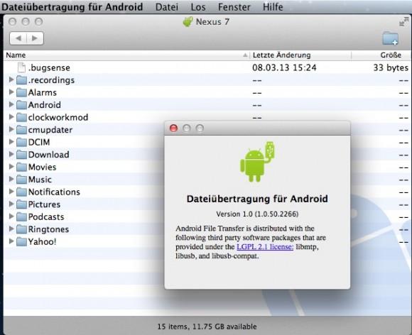 Dateiübertragung für Android: Dateimanager für Mac OS, um Dateien vom Android-Gerät auf den Mac und umgekehrt übertragen zu können.