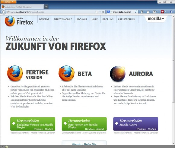 mozilla firefox portable edition deutsch download