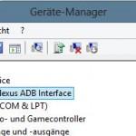 Im Gerätemanager muss der ADB-Treiber installiert werden.