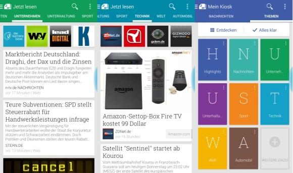 Google Play Kiosk 3.2.0: Die Darstellung der Themen lässt sich anpassen.