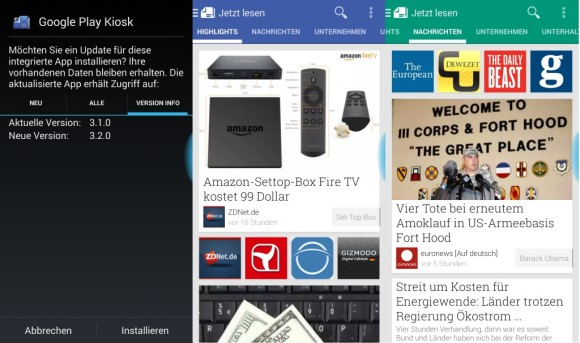 Google Play Kiosk 3.2.0 bietet eine verbesserte Navigation
