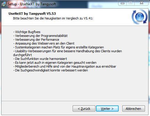 UseNeXT by Tangysoft