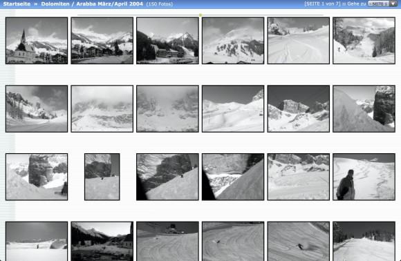 jAlbum: Beispiel für Foto-Galerie