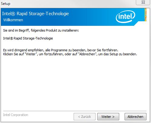 Intel Rapid Storage-Technology (RST)