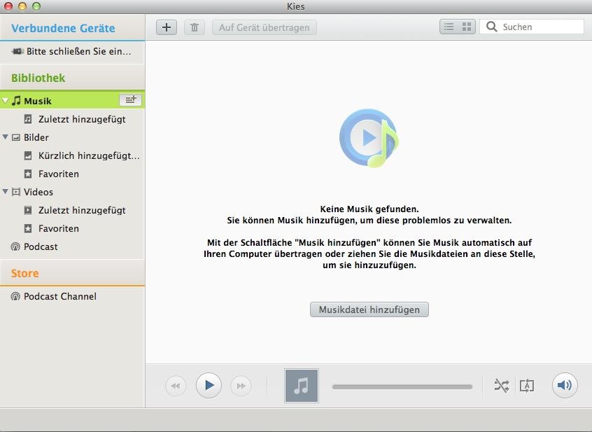 Samsung Kies für Mac OS