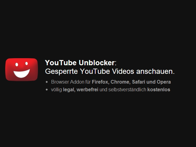 YouTube Unblocker spielt gesperrte youTube-Videos ab
