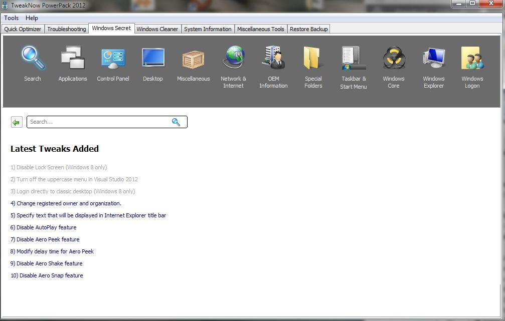 TweakNow PowerPack 2012