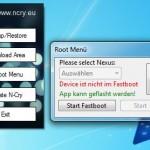 N-Cry-Toolkit: Root-Menü