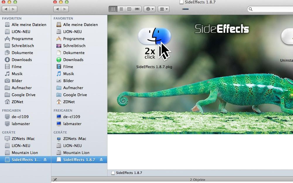 SideEffects sorgt für farbige Icons in der Finder-Seitenleiste