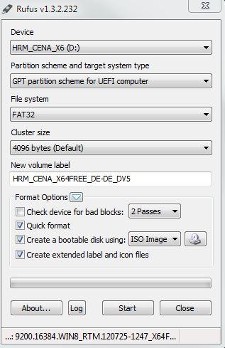 Rufus kann startbare USB-Sticks erstellen
