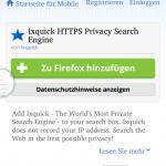 Zunächst mus man über Extras - Add-ons eine Suchmaschine installieren.