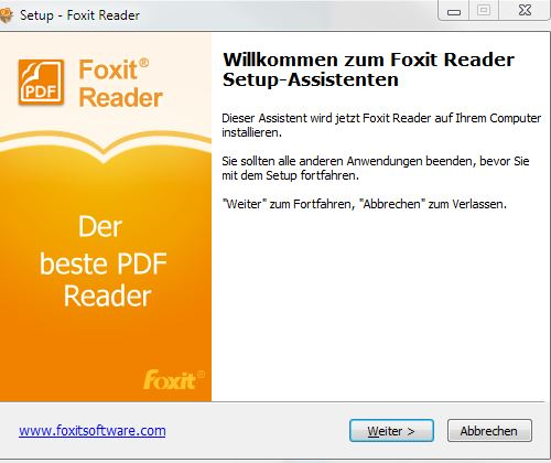 foxit pdf reader force english version