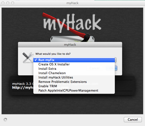 """Als nächsten wählt man """"Create OS X Installer""""."""