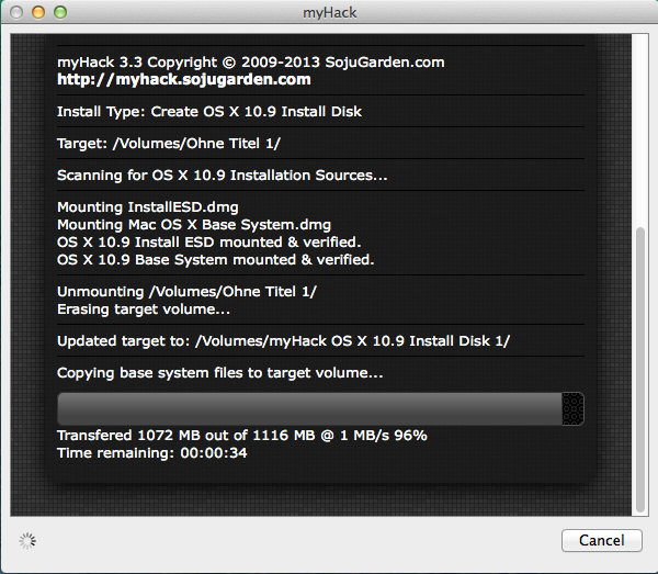 Das Basisystem ist nun auf dem USB.Stick.