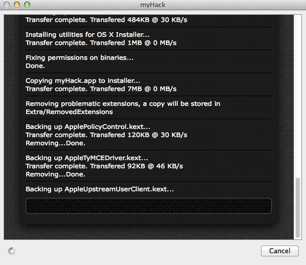 myHack entfernt problematische Komponenten.