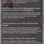 Chronus bietet auch ein RSS-Nachrichten-Widget
