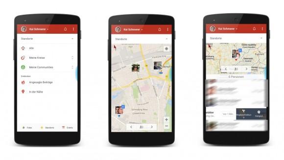 Google+ für Android: Standortfreigabe mit Routingoption