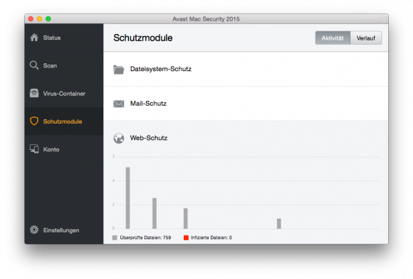 Avast Mac Security 2015 (Screenshot: ZDNet.de)