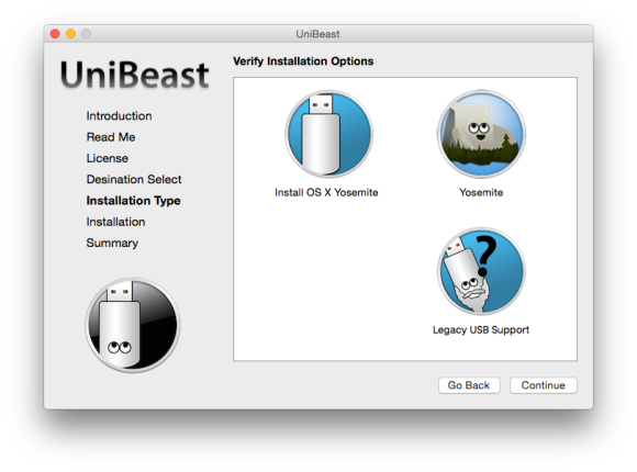 UniBeast (Screenshot: ZDNet.de)