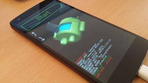 Nexus 5: Bootlader ist gestartet (Bild: ZDNet.de)