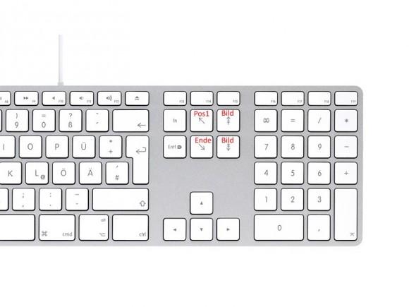 Apple-Tastatur mit numerischen Tasten (Bild: ZDNet.de)