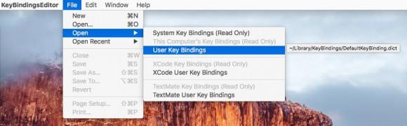 KeyBindingsEditor (Screenshot: ZDNet.de)