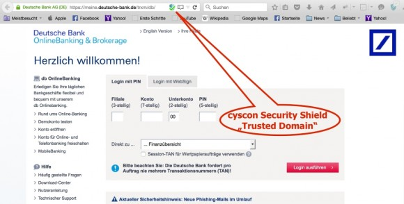 DB_trusteddomain (Screenshot: Csycon)
