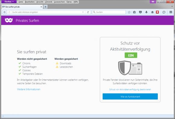 Firefox 42 (Screenshot: ZDNet.de)