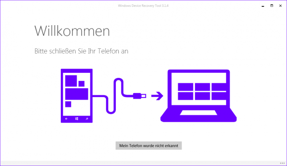 Windows Device Recovery Tool (Screenshot: ZDNet.de)