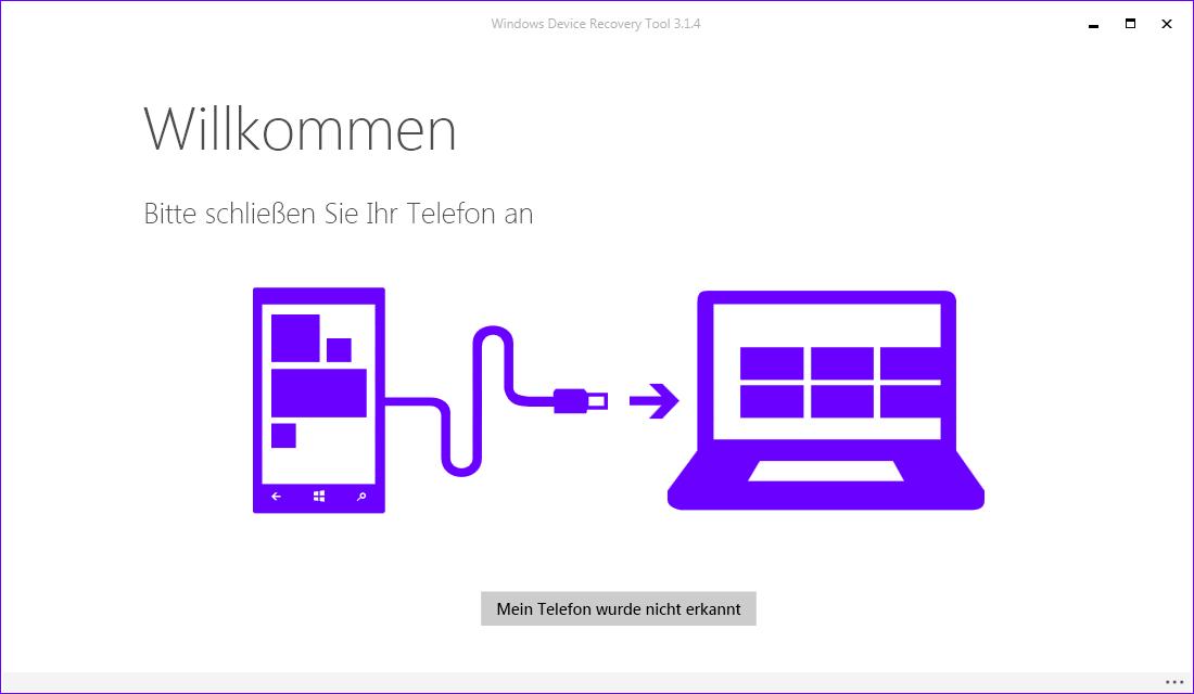 Windows Device Recovery Tool (Screenshot: ZDNet.de)