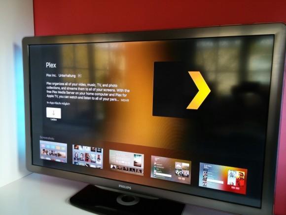 Plex auf AppleTV (Bild: ZDNet.de)