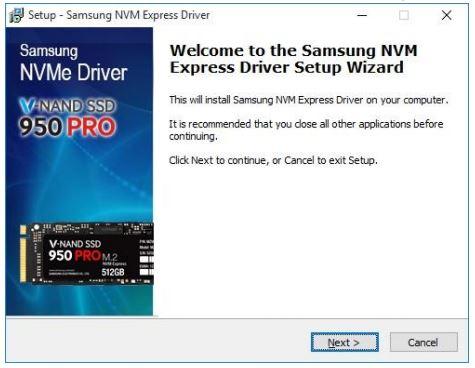 nvme-driver-setup (Bild: Samsung)