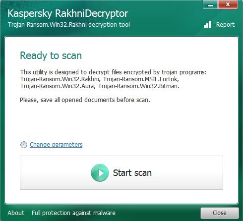 rakhnidecryptor (Screenshot: ZDNet)