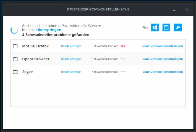 vulnerability-scanning (Screenshot: Bitdefender)