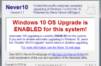 Never 10 (Screenshot: ZDNet.de)