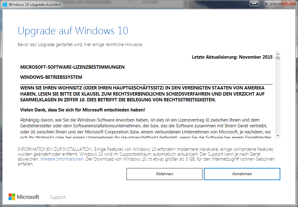 Windows-10-Upgrade-Assistent (Screenshot: ZDNet.de)