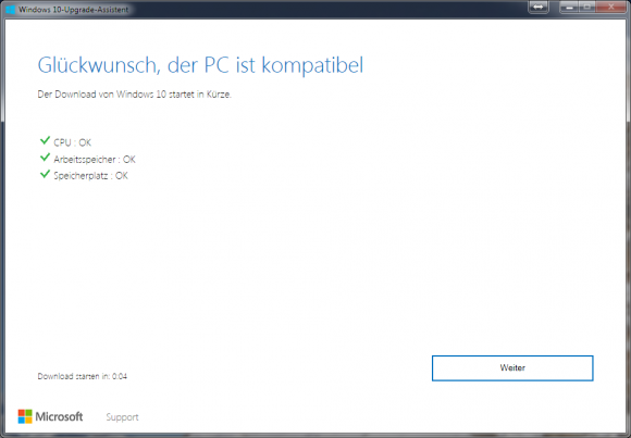 Windows-10-Upgrade-Assistent (Screenshot: ZDNet.de)