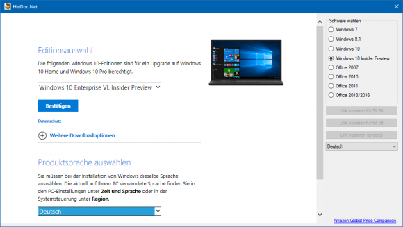 Windows-ISO-Downloader (Bild: ZDNet.de)