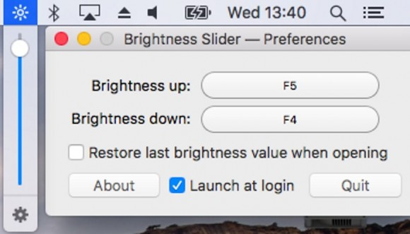 Brightness Slider (Screenshot: ZDNet.de)