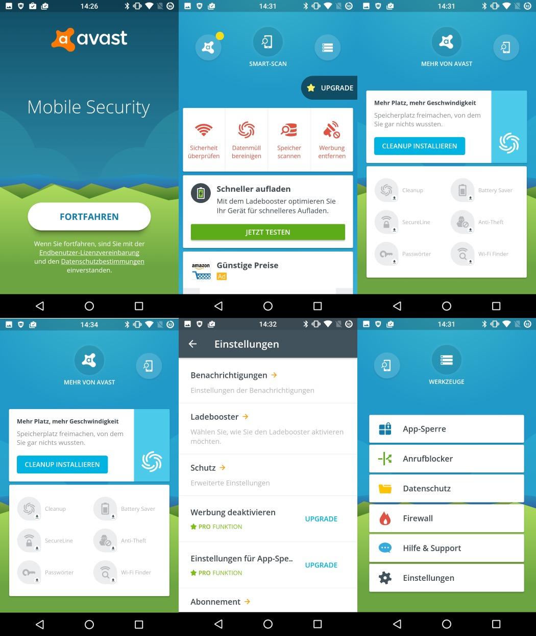 Avast-Android (Screenshot: ZDNet.de)