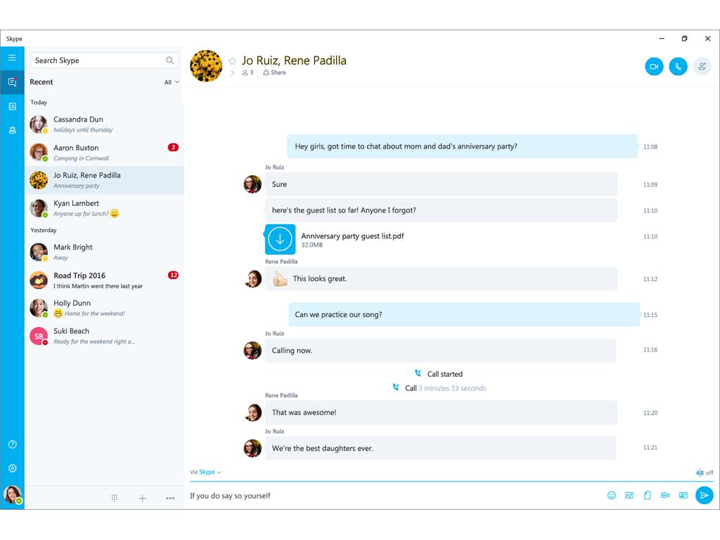 Skype für Windows 10 (Bild: Microsoft)
