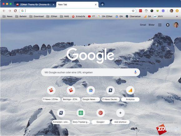 Chrome mit ZDNet-Theme (Bild: ZDNet.de)
