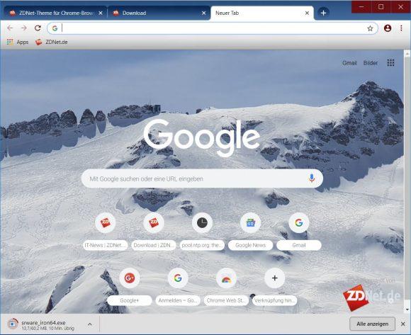 ZDNet-Theme für Chrome (Bild: ZDNet.de)